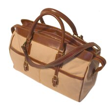 "Casiana 21"" Canvas Travel Duffel with Leather Trim"