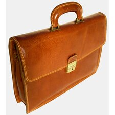<strong>Floto Imports</strong> Milano Leather Laptop Briefcase