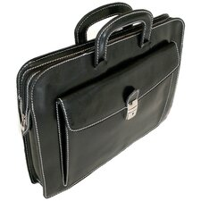 Milano Sleeve Leather Laptop Briefcase