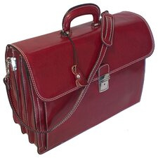 Firenze Briefcase in Tuscan Red