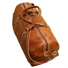 """Milano 20"""" Leather Carry On Duffel Bag"""