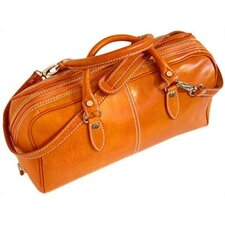 Venezia Leather Mini Duffle Satchel Bag