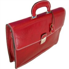 Milano Leather Laptop Briefcase