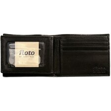 <strong>Floto Imports</strong> Firenze Leather Double Billfold ID Wallet