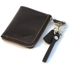 <strong>Floto Imports</strong> Monticello Small Zip Wallet in Brown