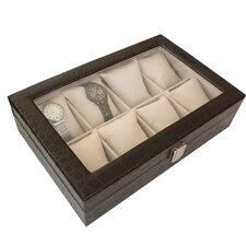 Classic 8-Slot Watch Box