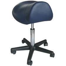 <strong>Sivan Health and Fitness</strong> Pneumatic Hydraulic Adjustable Rolling Saddle Massage Stool