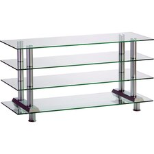 "22"" Glass Shelf Plasma Stand for Flat Panel Display"
