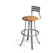 "<strong>Createch</strong> Nip 30"" Swivel Bar Stool with Cushion"