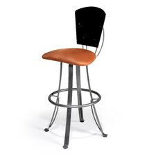 "Kim 24"" Swivel Bar Stool with Cushion"
