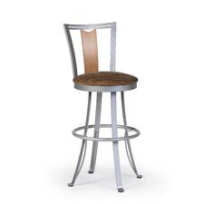 "Zola 24"" Swivel Bar Stool with Cushion"
