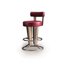 "Saturne 26"" Swivel Bar Stool with Cushion"
