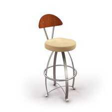 "Dacota 24"" Swivel Bar Stool with Cushion"