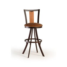 "Zep 24"" Swivel Bar Stool with Cushion"