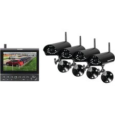 Complete 4 Digital Wireless Camera LCD/DVR System