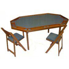 "<strong>Kestell Furniture</strong> 72"" Deluxe Maple Folding Poker Table Set"