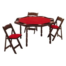 "57"" Maple Period Style Folding Poker Table"