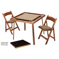 "<strong>Kestell Furniture</strong> 35"" Oak Folding Card Table Set"