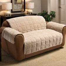 Plush Loveseat Cover