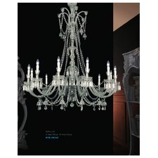 Byblos 12 Light Crystal Chandelier