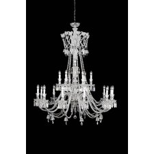 Byblos 18 Light Crystal Chandelier