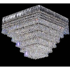 Cheops Crystal 6 Light Flush Mount