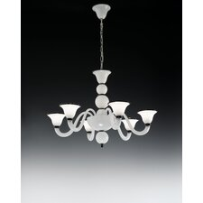<strong>Cristalstrass Murano & Crystal</strong> Canaletto 6 Light Chandelier