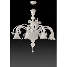 <strong>Cristalstrass Murano & Crystal</strong> Geremia 6 Light Chandelier