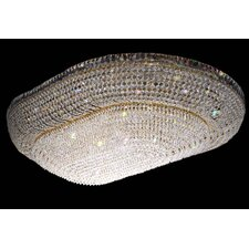 Luxor 16 Light Crystal Flush Mount