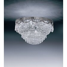 Pegaso 4 Light Crystal Flush Mount