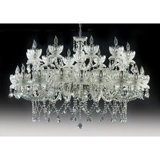 Queen Flower 30 Light Crystal Chandelier