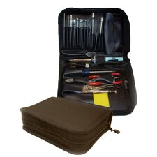 "<strong>CH Ellis</strong> 646 Compact Single Zipper Cordura Tool Case: 2 1/2"" H x 9 3/4"" W x 7 1/2"" D in Black"