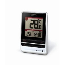 Wireless Indoor / Outdoor Thermometer Wall Clock