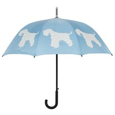 Dog Park Schnauzer Silhouette Walking Stick Umbrella