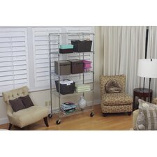 "EcoStorage™ 5-Tier NSF 36"" Shelving Unit in Chrome"
