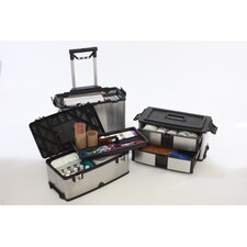 <strong>Trinity</strong> 3-in-1 Suitcase Toolbox in Stainless Steel with Black Accents