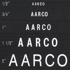 <strong>AARCO</strong> Single Tab Changeable Letters in Helvetica