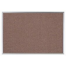 Grey Vinyl Impregnated Cork Bulletin Board with Aluminum Frame