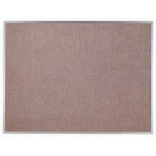 Designer Pumice Fabric Bulletin Board with Aluminum Frame