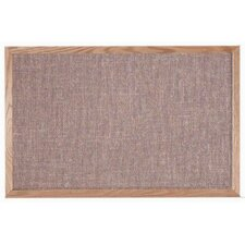 Designer Pumice Fabric Bulletin Board with Wood Frame