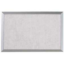 101Burlap Weave Bulletin Board with Aluminum Frame in Stone