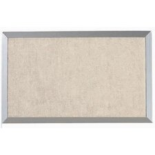 Burlap Weave Bulletin Board with Aluminum Frame in Dover