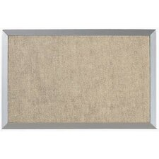 Burlap Weave Bulletin Board with Aluminum Frame in Coffee Cream