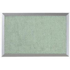 Burlap Weave Bulletin Board with Aluminum Frame in Willow