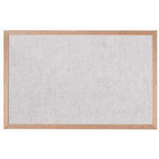 Burlap Weave Bulletin Board with Wood Frame in Stone