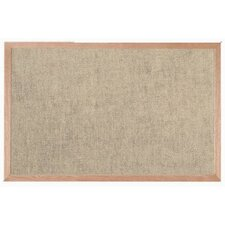 Burlap Weave Bulletin Board with Wood Frame in Coffee Cream