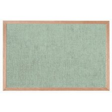 Burlap Weave Bulletin Board with Wood Frame in Willow