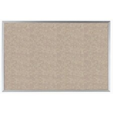 Buff Vinyl Impregnated Cork Bulletin Board with Aluminum Frame