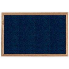 Dark Grey Vinyl Impregnated Cork Bulletin Board with Wood Frame