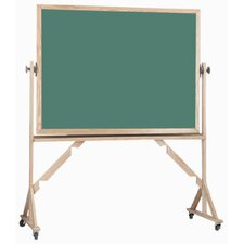 Reversible Free Standing Green Chalkboard with Aluminum Trim